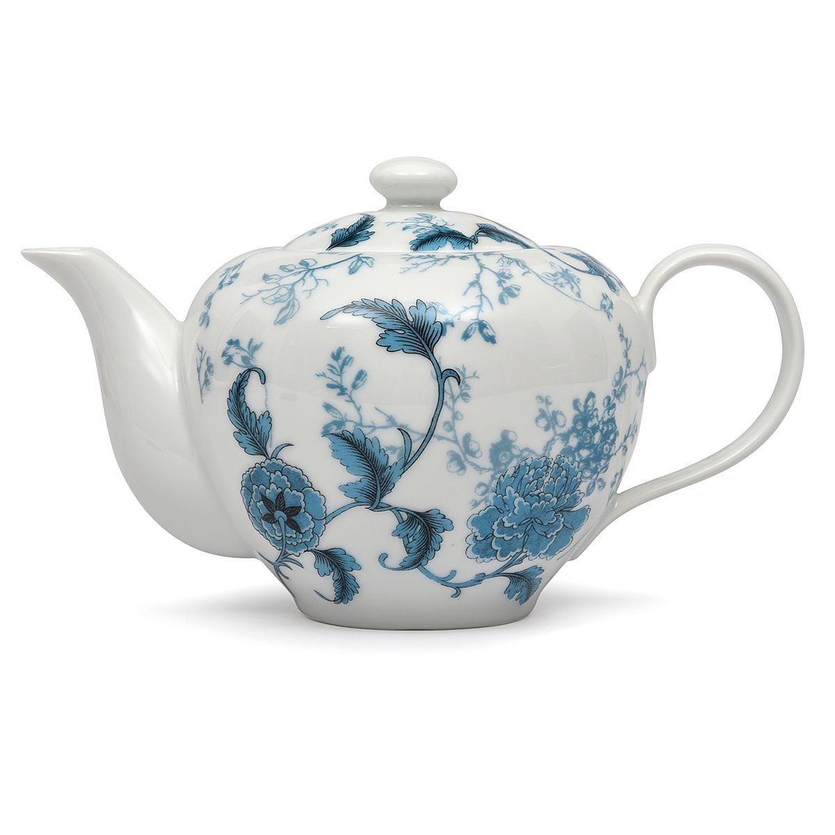 """Объемный заварник для чая из фарфора """"Лазурный дракон"""""""