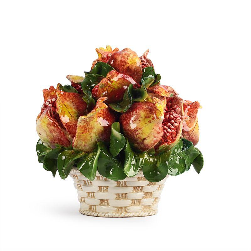 """Декор в виде корзинки с плодами """"Гранатовый букет"""""""