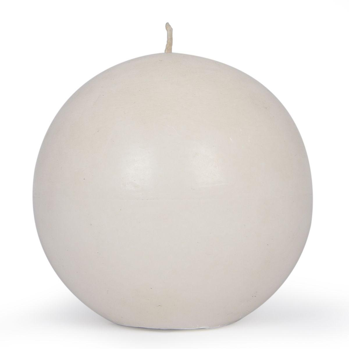 Белая круглая свеча из парафина для декора и сервировки