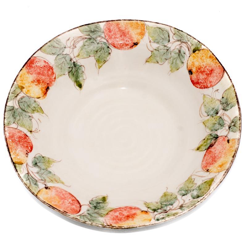 Большое глубокое блюдо Персики