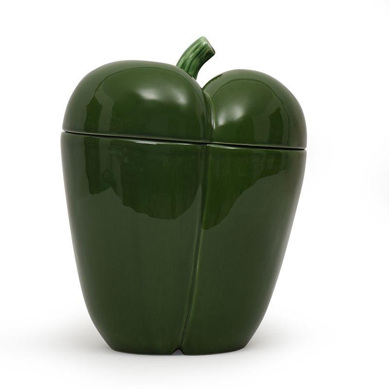 """Банка для сыпучих большая """"Перец зеленый"""""""