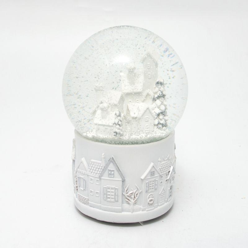 Музыкальная шкатулка Шар со снегом и домиком