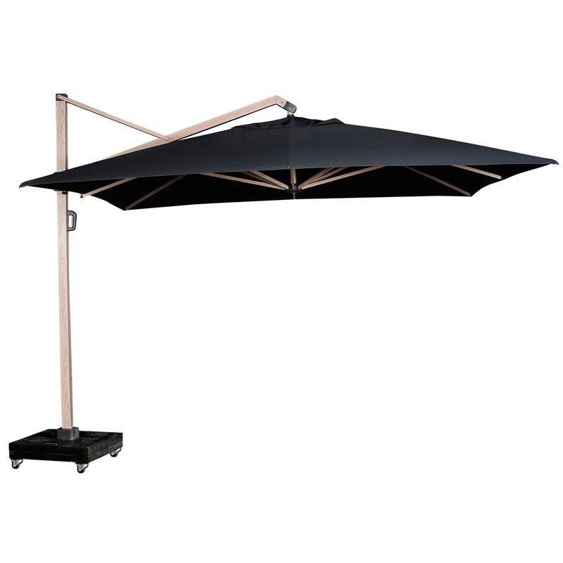 Зонт для улицы большой серо-черный Icon premium