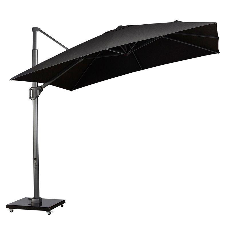 Зонт для улицы серо-черный Challenger T1 Telescope premium