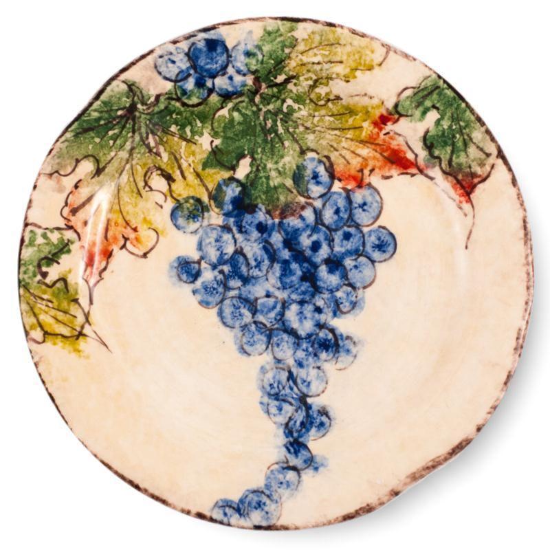 """Тарелка салатная с красочным рисунком """"Виноград"""""""