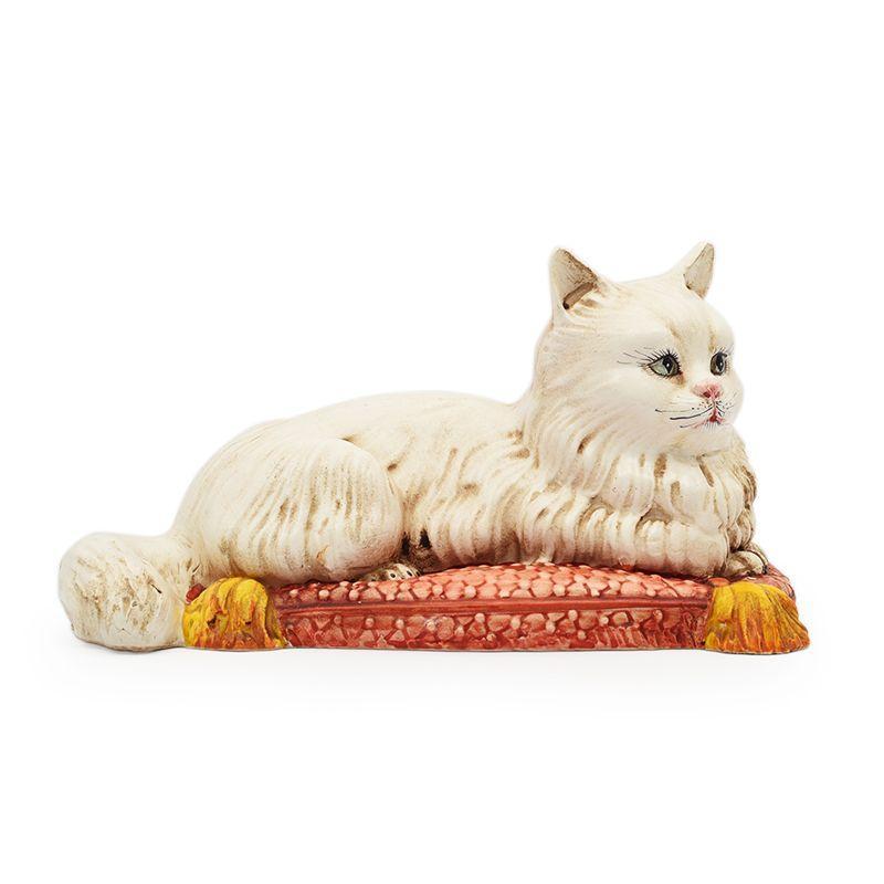 """Статуэтка """"Кот на красной подушке"""""""