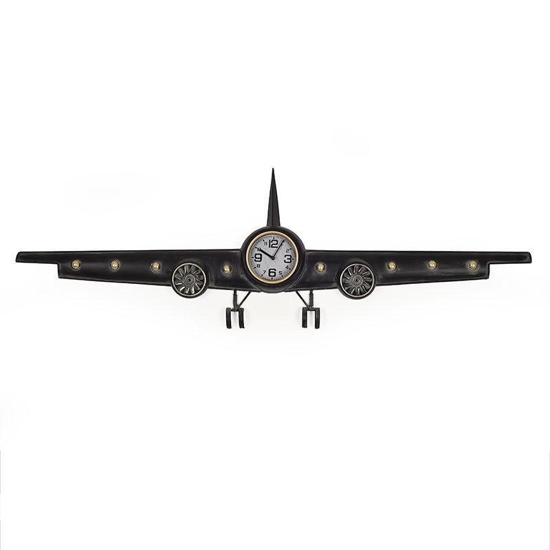 Часы в виде самолета в стиле лофт Kelvin Loft Clocks & Co