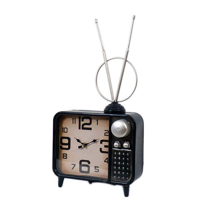 Настольные часы в виде телевизора в винтажном стиле