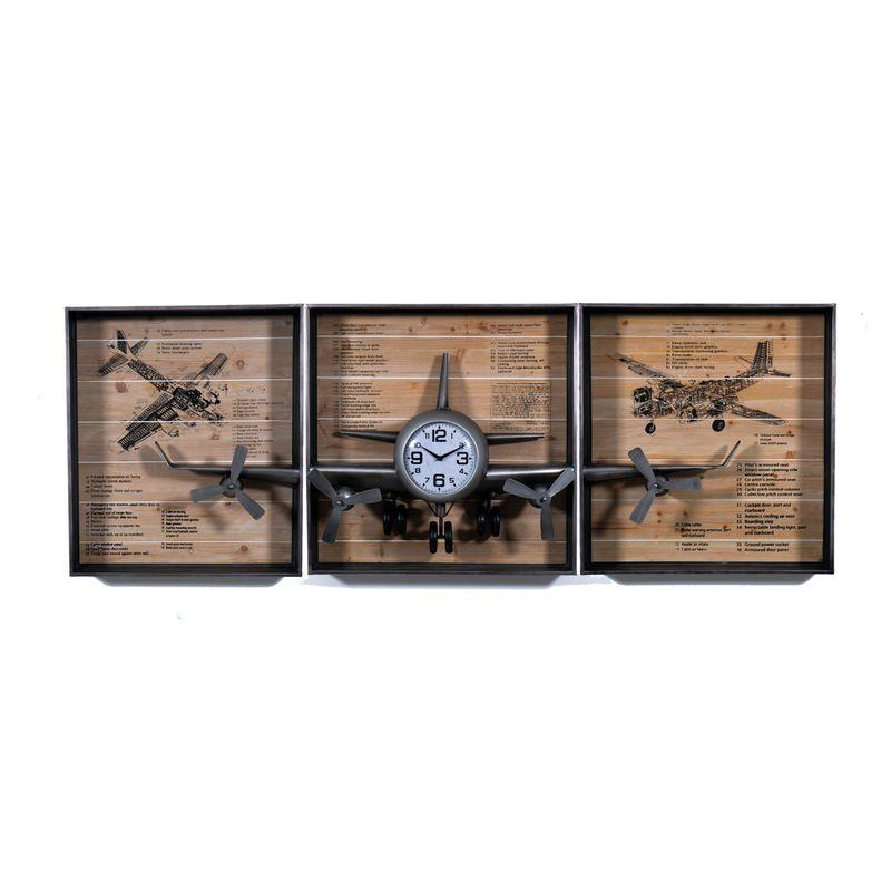 Декоративные настенные часы в виде самолета Armstrong Loft Clocks & Co