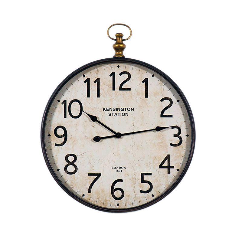 Часы круглые под старину Dickson Kensington Station Antique Clocks