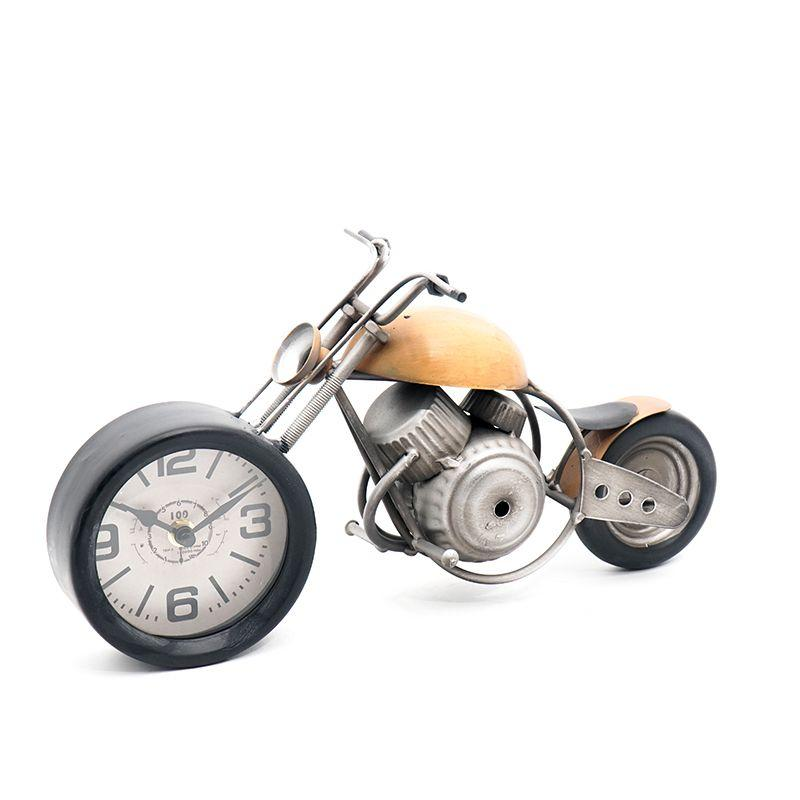 Часы в виде мотоцикла Orange Chopper Loft Clocks & Co