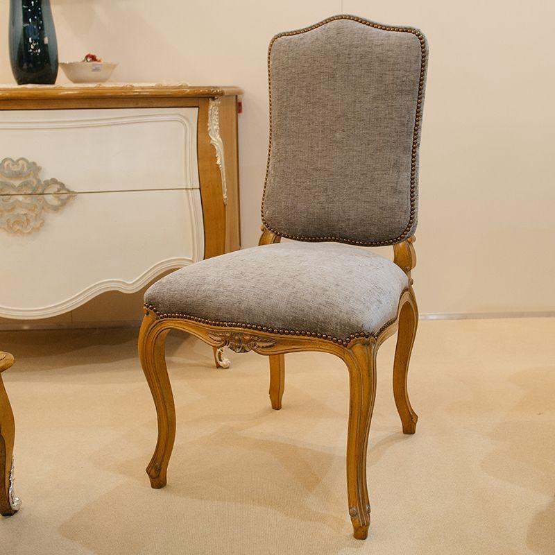 Элегантный стул с мягким сиденьем и основой из натурального дерева Luis XV