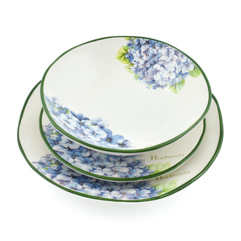 """Комплект тарелок """"Голубая Гортензия"""""""