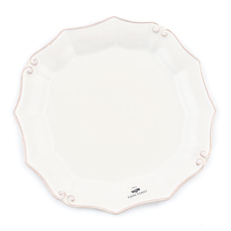 Тарелка салатная из огнеупорной керамики белого цвета Barroco