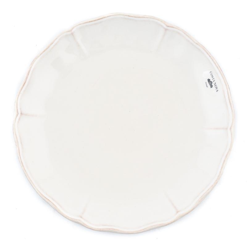 Белая керамическая тарелка для салата Alentejo