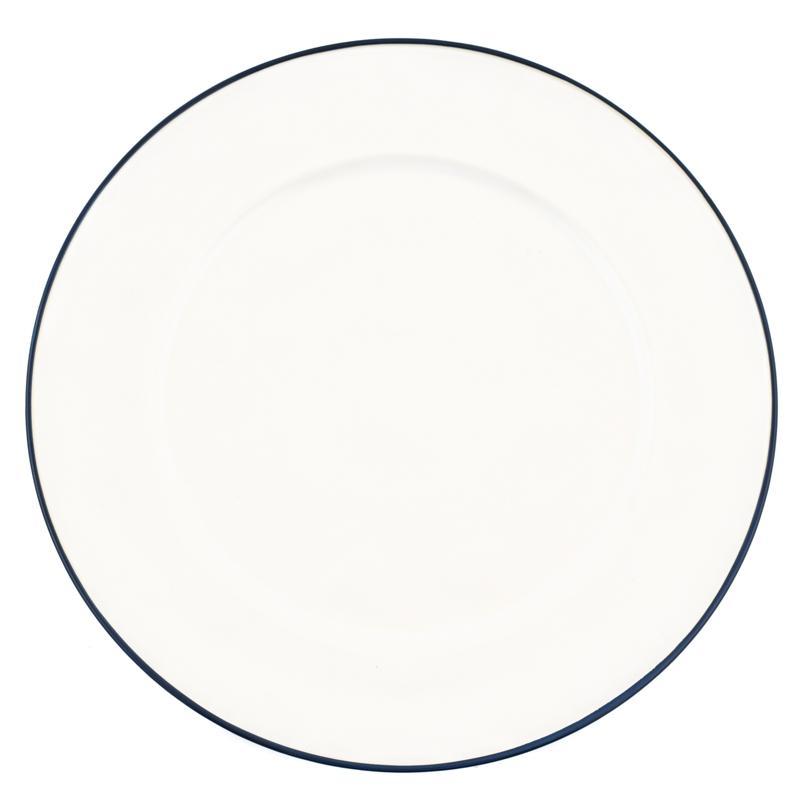Тарелка белая с каймой Beja