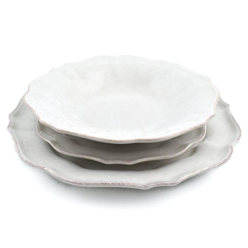 Комплект тарелок Impressions белый