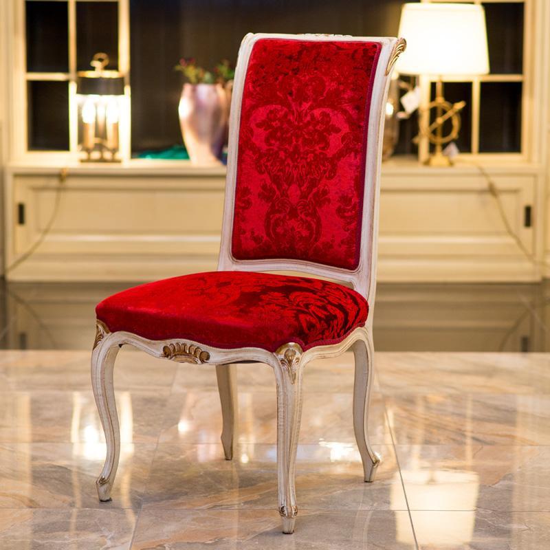 Стул-кресло с отделкой из красного бархата Palmobili