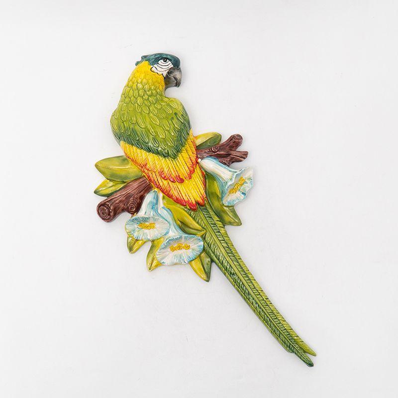 """Декор настенный """"Зеленый попугай"""""""