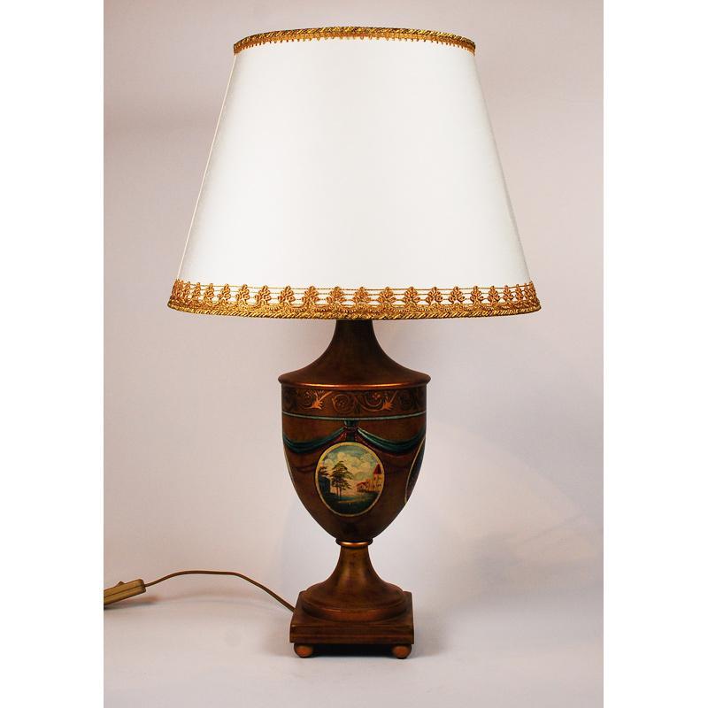 Настольная лампа медного цвета Leone Aliotti