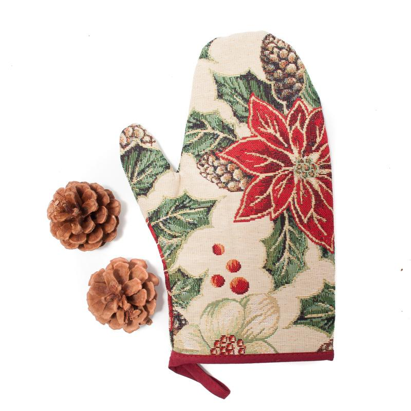 """Прихватка рукавичка """"Рождественский букет"""""""