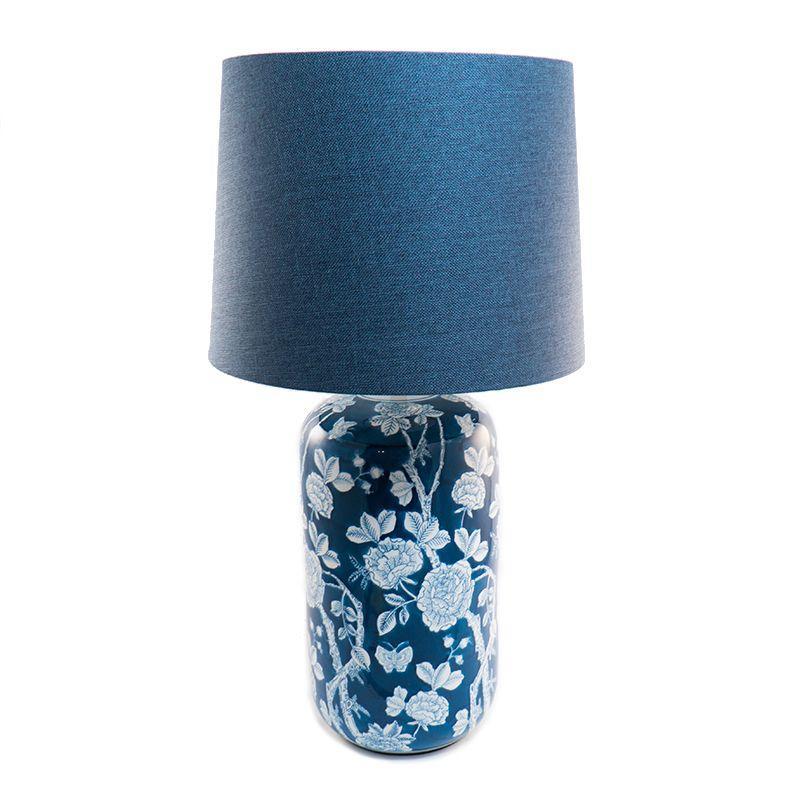 Настольная лампа керамическая с цветочным декором