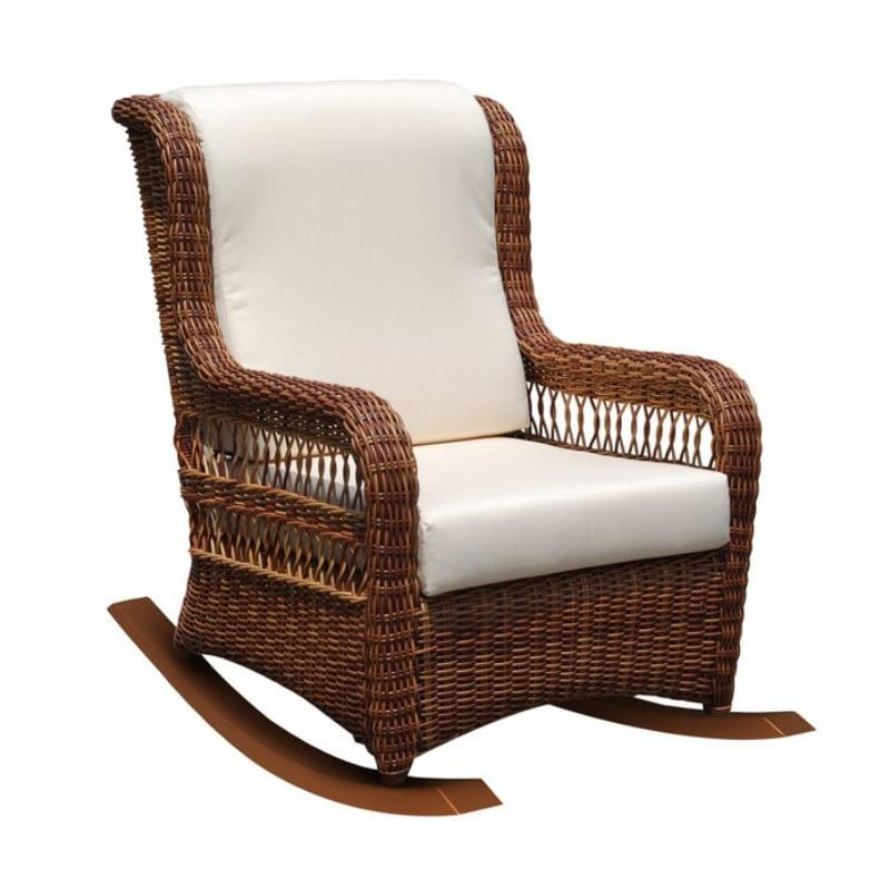 Плетеное кресло-качалка с мягкими подушками Ebony