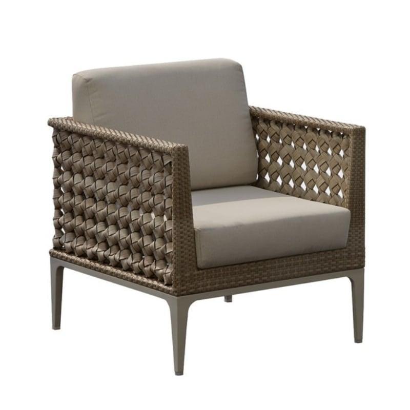 Кресло оттенка тауп с ручным плетением Heart