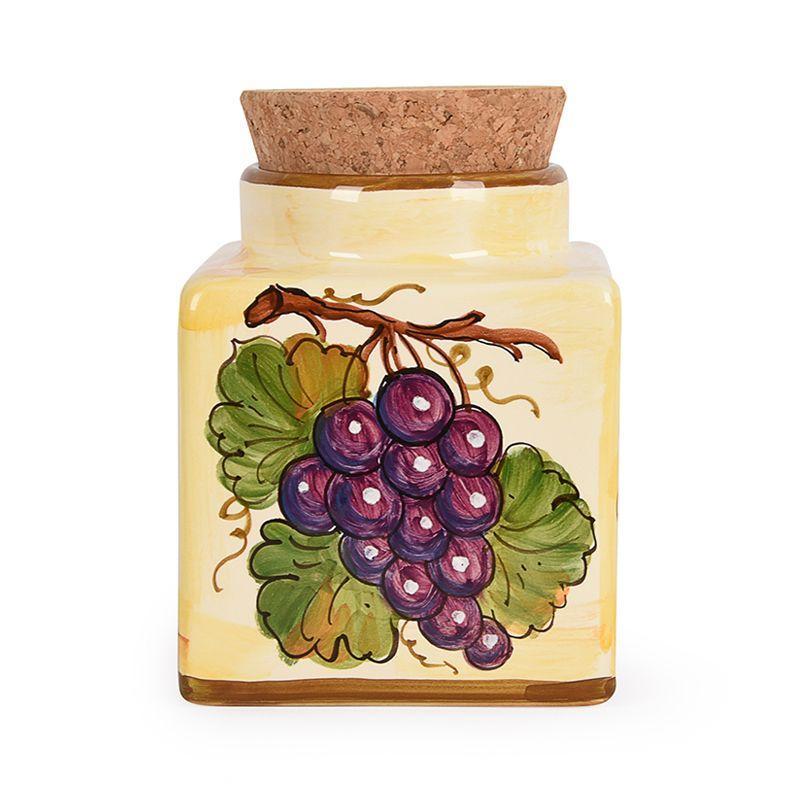 Керамическая емкость для хранения с пробкой Frutta di Campo