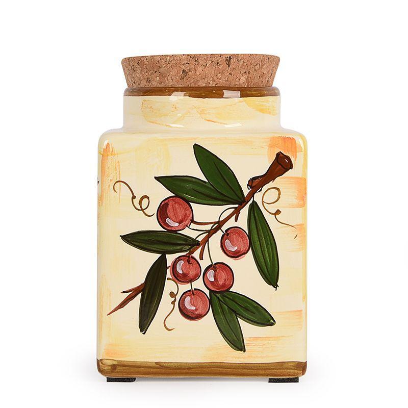 Емкость для хранения с ручной росписью Frutta di Campo