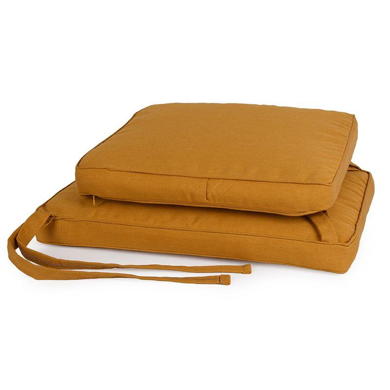 Набор из 2-х подушек для стульев New London горчичного цвета