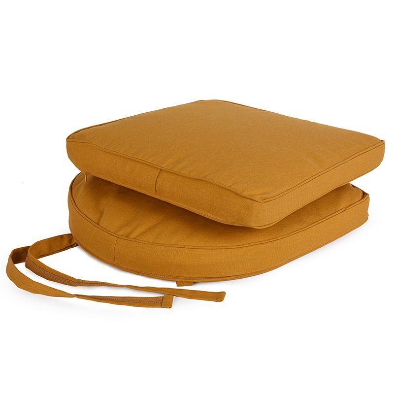 Набор из 2-х подушек для стульев горчичного цвета New Nicole