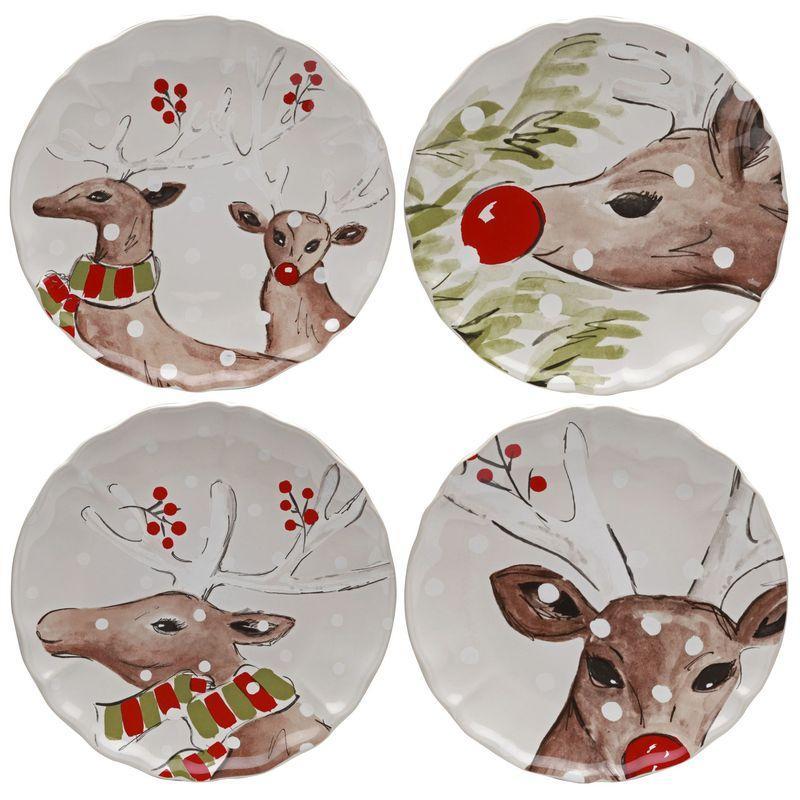 Комплект обеденных тарелок белый Deer Friends Casafina