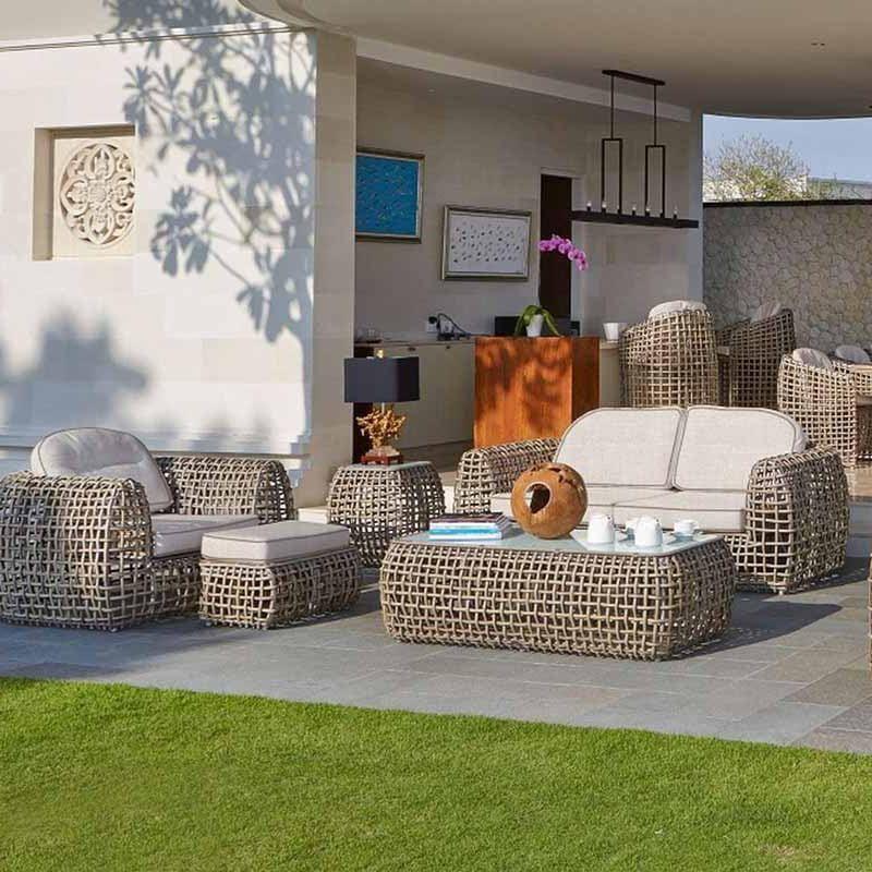 Комплект мебели из светлого ротанга Dynasty Kubu