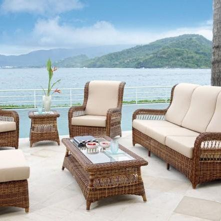 Комплект уличной мебели для отдыха из ротанга Ebony