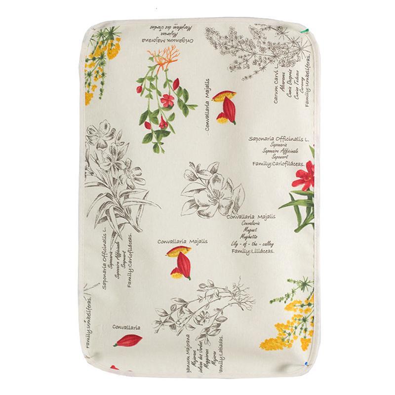 """Салфетка тканевая на стол """"Красные полевые цветы"""""""