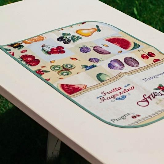 """Гобеленовое кухонное полотенце с ярким рисунком """"Фрукты"""""""
