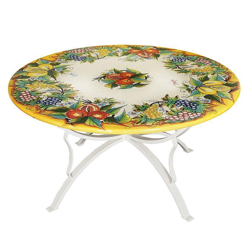 Круглый стол из вулканического камня Frutta