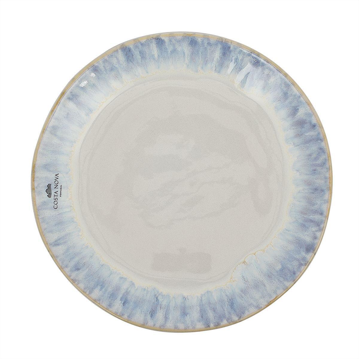 Тарелка для салата Costa Nova Brisa синяя 20 см