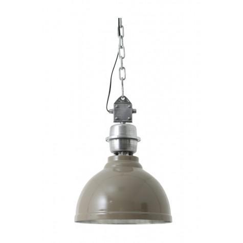 Подвесной светильник на цепочке серого цвета