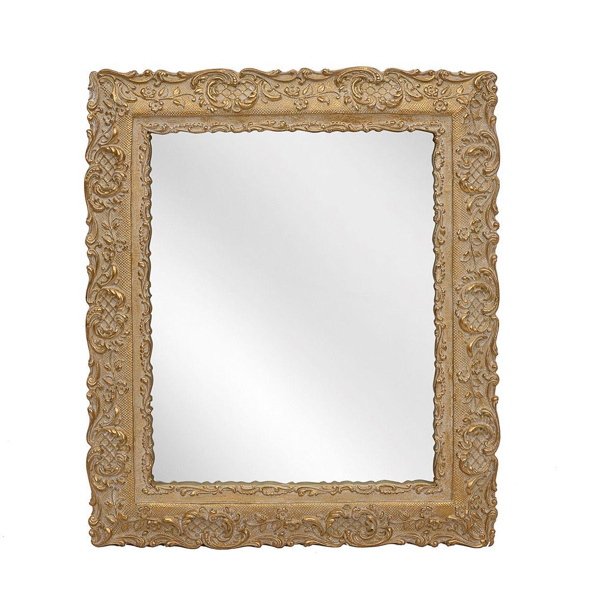 Зеркало в виде рамки для фото с акантовым орнаментом