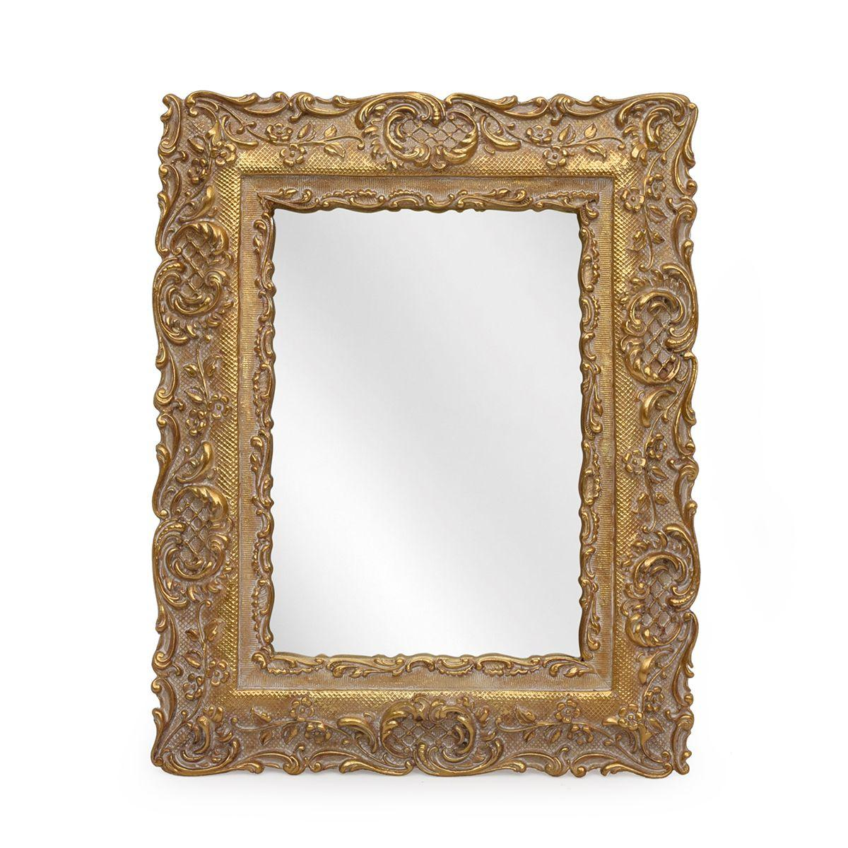 Зеркало в виде фоторамки с коринфским орнаментом