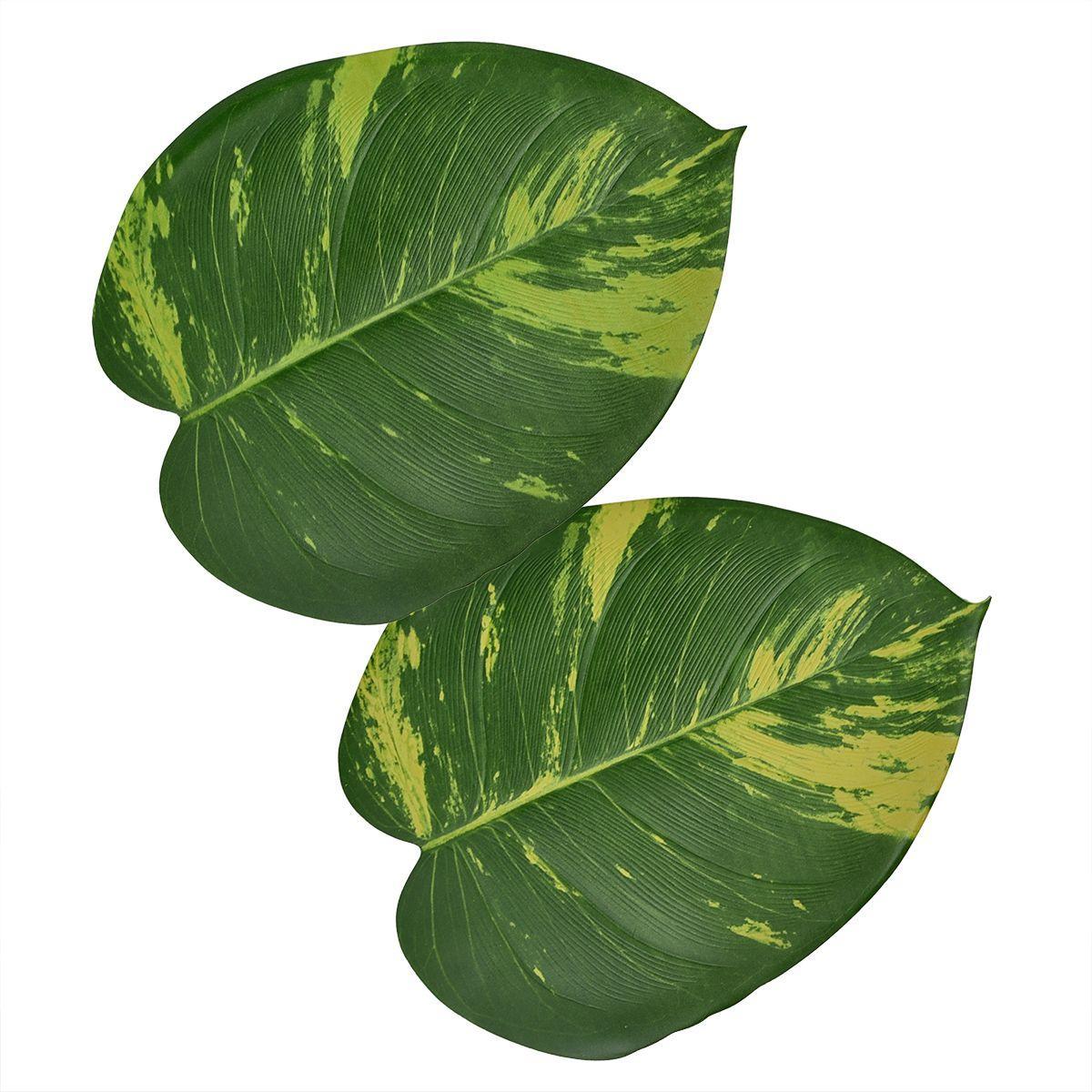 Подставки под тарелки и блюда в виде листьев Диффенбахии