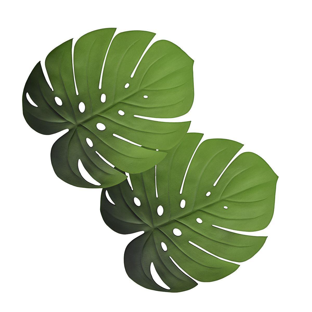 Подставки под посуду в виде тропических листьев Монстеры