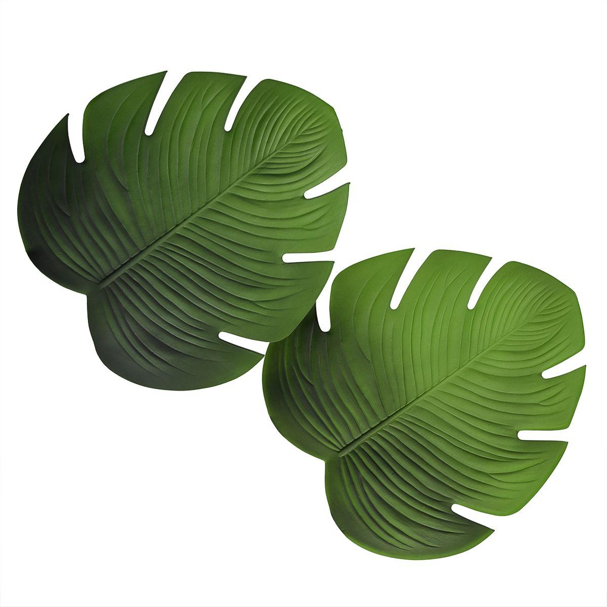 Подставки в виде листьев Филодендрона с прорезями