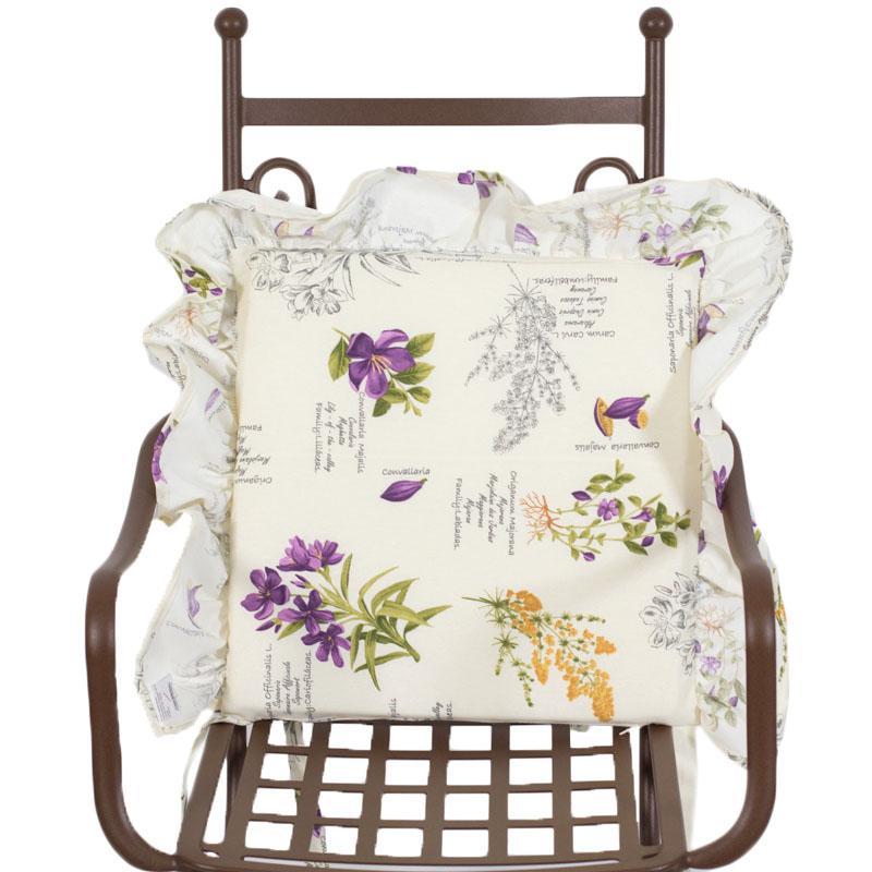 """Подушка для стула """"Лиловые полевые цветы"""""""