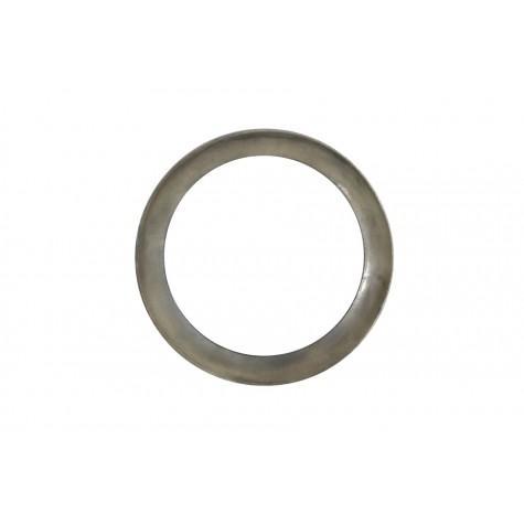Зеркало настенное круглое в серебристой рамке
