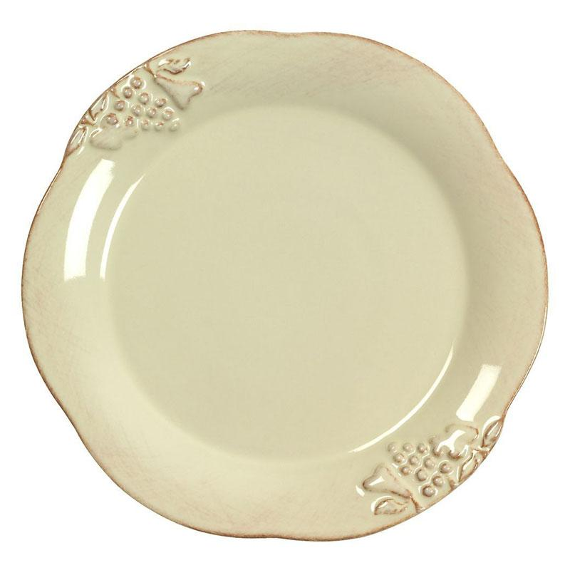 Тарелка обеденная из керамики кремового оттенка Mediterranea