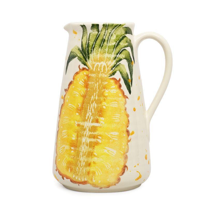 """Высокий кувшин с рисунком ананаса """"Фруктовый коктейль"""""""