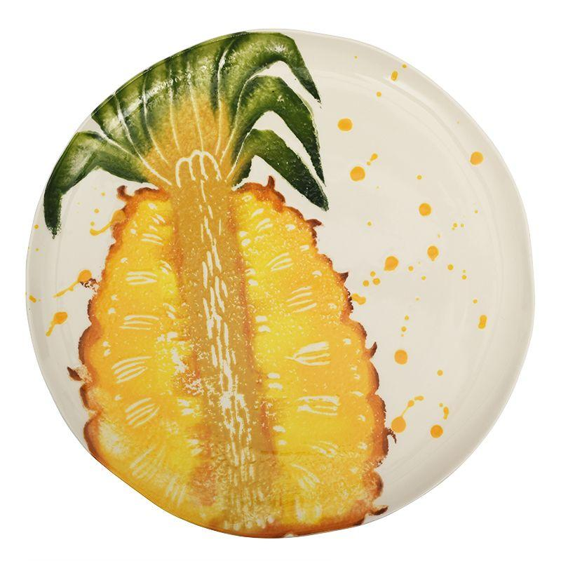 """Тарелка обеденная с сочным рисунком """"Фруктовый коктейль"""""""